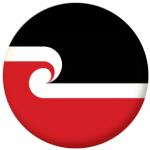 Maori Flag 25mm Pin Button Badge